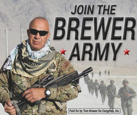 Tom Brewer's military career makes impressive campaign visuals, but you'd think it would also make him less likely to jump to conclusions about his fellow soldiers.